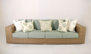 All weather outdoor four seater sofa