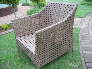 Elita double weaved armchair.