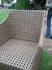 Elita special weaved armchair.