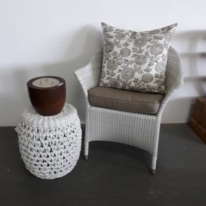 Single weaved Molar chair in white.