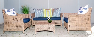 All weather designer Elita arm chairs and Makuti two seater sofa