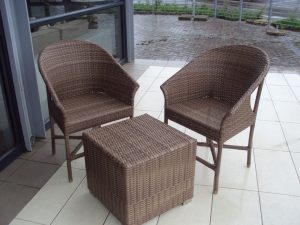 Single weaved Limpopo chairs in coffee cream.