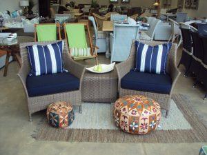 Outdoor furniture showroom.