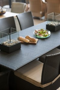 Ashanti dining table and Kariba dining chairs.