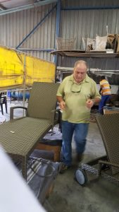 Furniture manufacturing workshop.