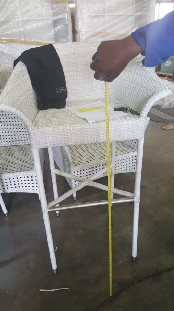 All weather outdoor bar stool.