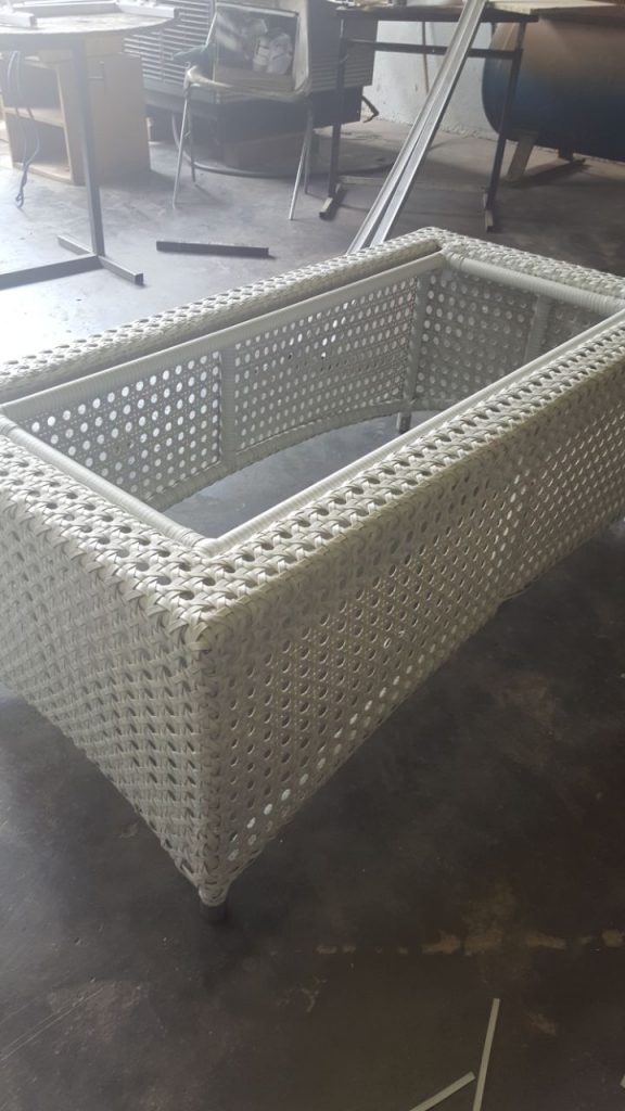 Special weaved coffee table.