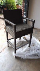 Bar stool in coffee cream.