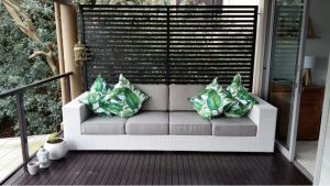 All weather outdoor 4 seater sofa.