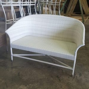 Outdoor two seater bench.