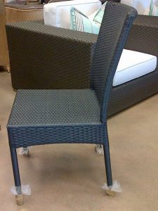 Single weaved dining chair in Anthracite.