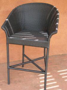Designer outdoor bar stool.