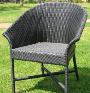 Designer outdoor chair.