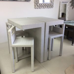 Mundos bar tables and chairs.