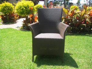 Single weaved Kariba armchair in coffee cream.
